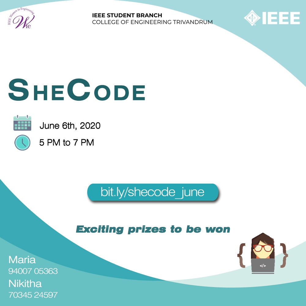 SheCode -IEEE WIE Chapter CET and GirlScript Trivandrum