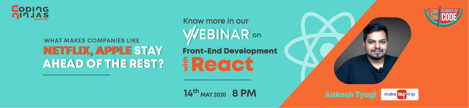 Webinar on Advanced Front End Web Development With React