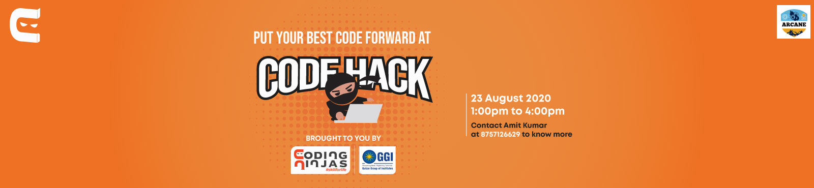 CodeHack, An online coding event in Collaboration with Gulzar Group of Institutes, Punjab