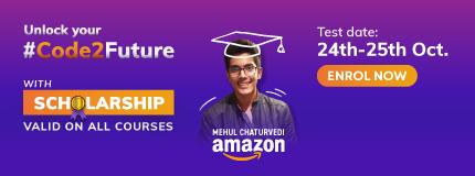 Coding Ninjas Scholarship Test October'21