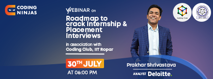 Roadmap to cracking Placements and Internships | Indian Institute Of Technology Ropar