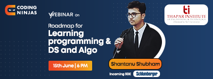 Roadmap to Programming and DS & Algo | Thapar Institute of Engineering And Technology
