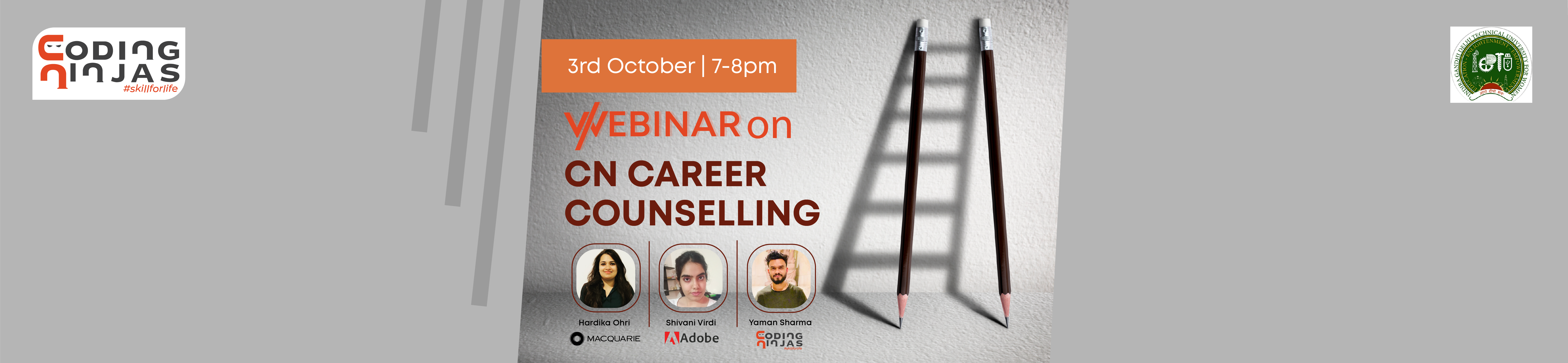 Career Counselling Webinar by Alumnus, IGDTUW