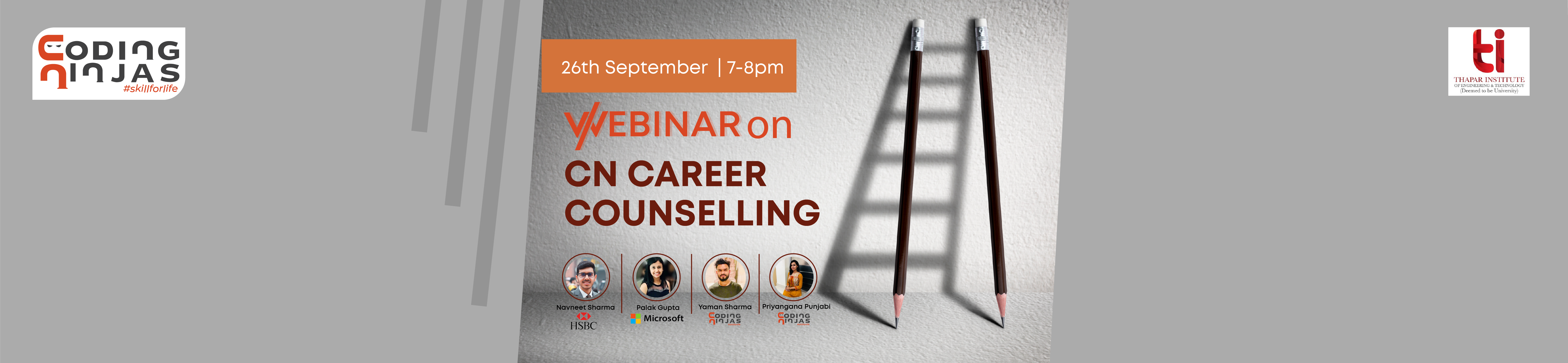 Career Counselling Webinar by Alumnus, Thapar University