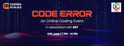 Code Error | Kalinga Institute of Industrial Technology