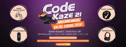Code Kaze'21 | India's most awaited Online Coding Event
