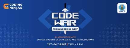 Code War | First Strike | Second Strike | Third Strike | JUET
