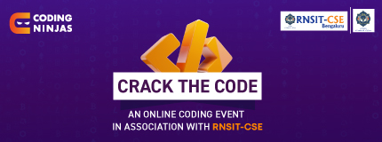 Crack the code |  CSE Department, RNSIT