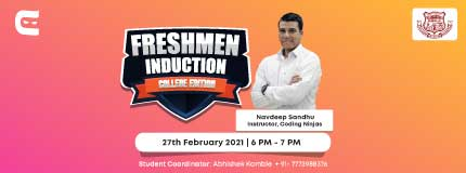 Freshmen Induction at Walchand College of Engineering