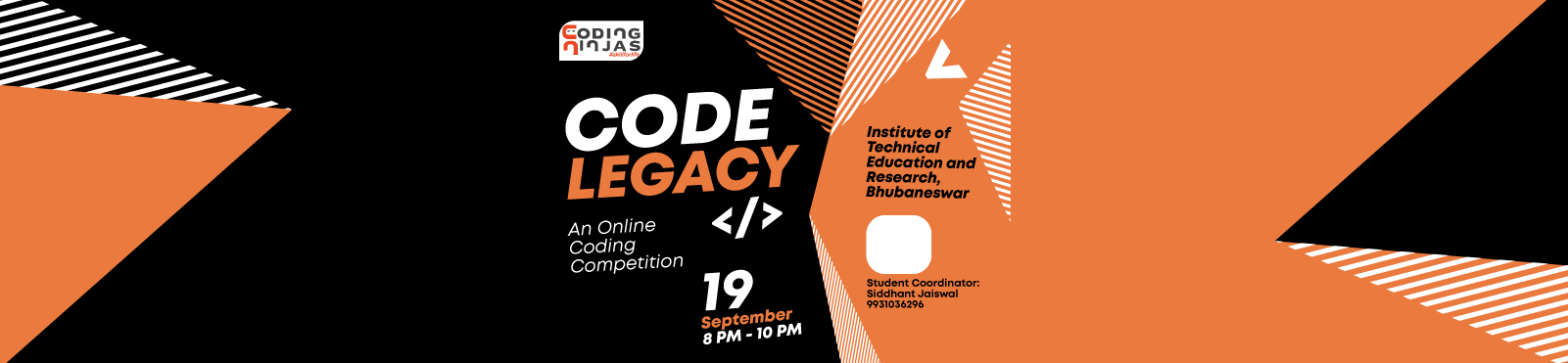 "Code Legacy at ""Institute of Technical Education and Research,Bhubaneswar"""