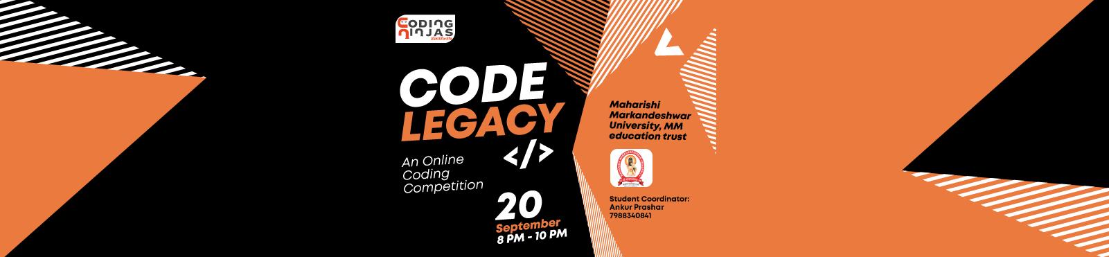 "Code Legacy at ""Maharishi Markandeshwar University, MM education trust """