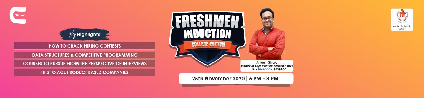Freshmen Induction at Manipal University, Jaipur