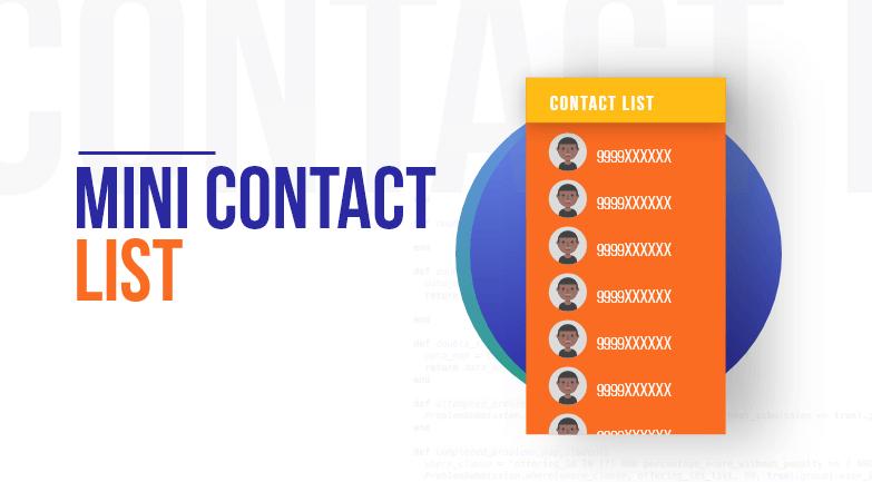 Mini Contact List