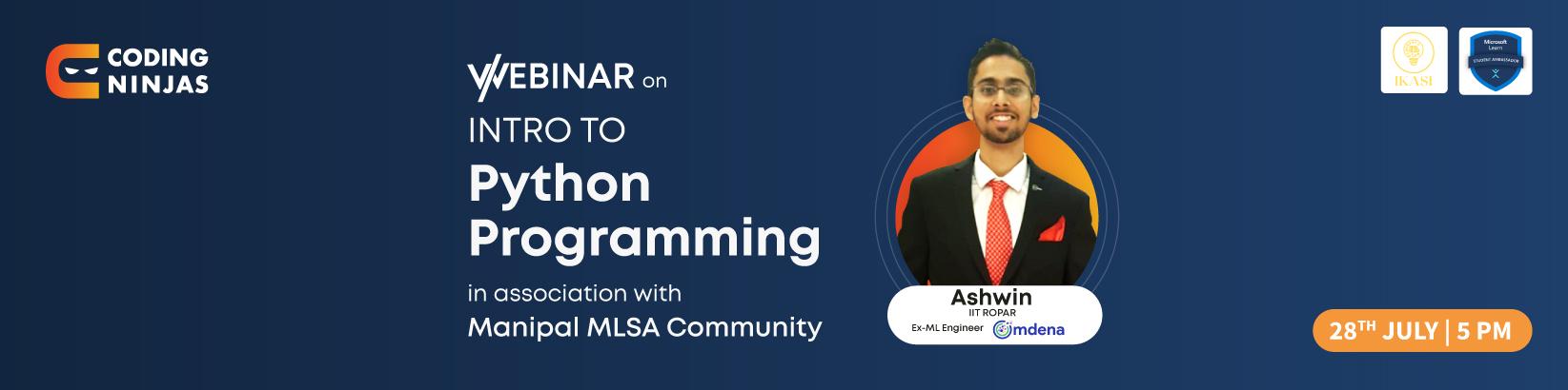 Introduction to Python programming |  Manipal MLSA Community