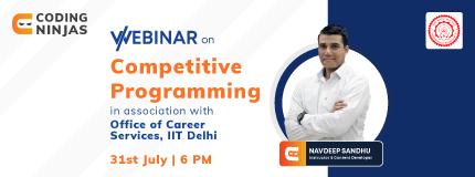 Competitive Programming | IIT Delhi