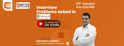 Live Session on Interview Problems Asked in Microsoft Interviews