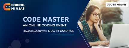 Code Master   CDC IIT Madras