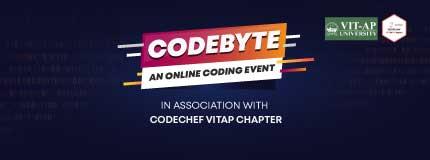 CodeByte   CodeChef VIT AP Chapter