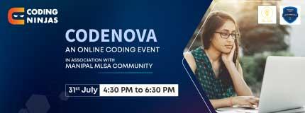 CodeNova | Manipal MLSA Community
