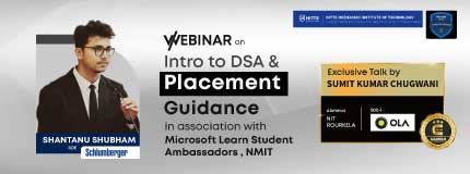 Introduction to DSA & Placement Guidance | Microsoft Learn Student Ambassadors, NMIT