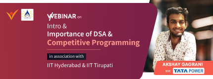 Intro & Importance of DSA & Competitive Programming   IIT Hyderabad & IIT Tirupati