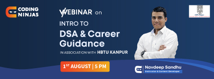 Intro to DSA and Career Guidance | HBTU Kanpur