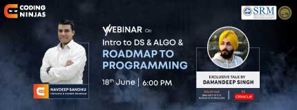 Introduction to DS & ALGO and Roadmap to programming|SRM Institute of Science & Technology
