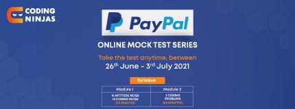 Paypal Mock Test
