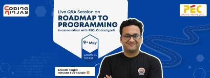 Roadmap to Programming & Q/A Session with Founder | PEC Chandigarh