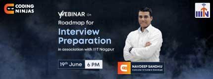 Roadmap to Interview Preparation | IIIT Nagpur