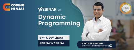 Webinar on Dynamic Programming | National Institute of Technology Kurukshetra