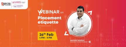 Forward Focus: Webinar on Placement etiquette  In collaboration with IEEE