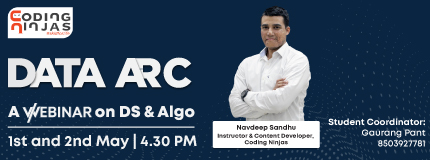 Data ARC | A webinar on Ds & Algo | SRMIST Chennai
