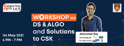 Workshop on DS & ALGO and Solutions to Coding Super Kings | ABES Engineering College Ghaziabad