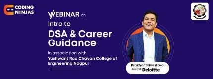 Intro to DSA and Career Guidance | YCCE Nagpur