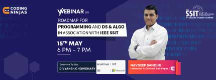 Roadmap to Programming And Ds & Algorithm | Vellore Institute of Technology