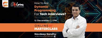 Master Class on Dynamic Programming