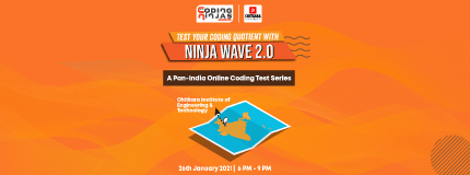 Ninja Wave 2.0 at Chitkara Institute of Engineering & Technology