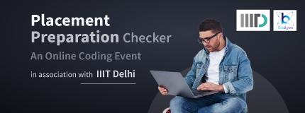 Placement Checker|Indraprastha Institute of Information Technology Delhi
