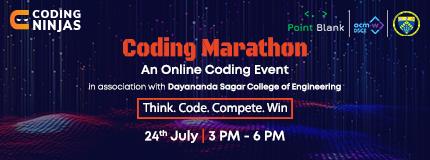 Coding Marathon   Dayanand Sagar college of Engineering