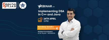 Implementing DSA in C++/Java | D J Sanghvi, Mumbai