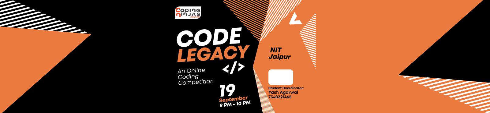 "Code Legacy at ""NIT Jaipur"""