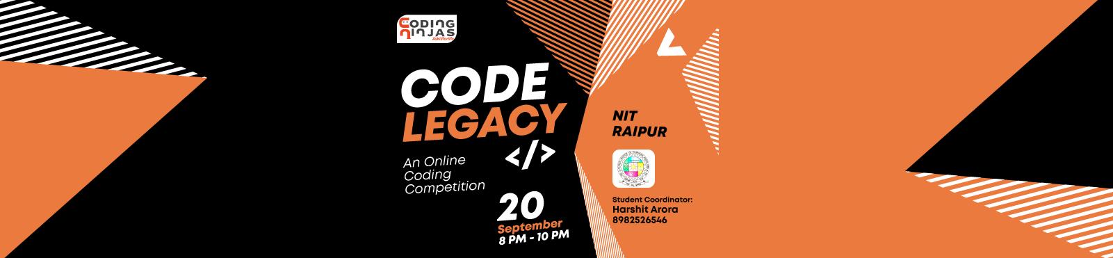 """Code Legacy at """"NIT RAIPUR """""""
