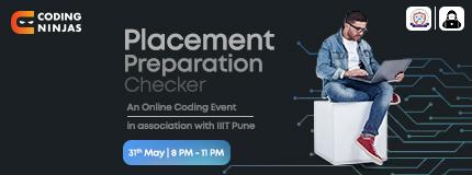Placement Preparation Checker   IIIT Pune