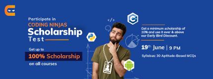 Coding Ninjas Admission & Scholarship Test June'21