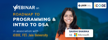Roadmap to Programming and Introduction to DSA | iCODE, School of Engineering and Technology, Jain University - [FET JU], Bangalore
