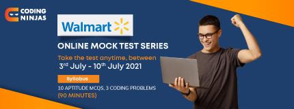 Walmart Mock test